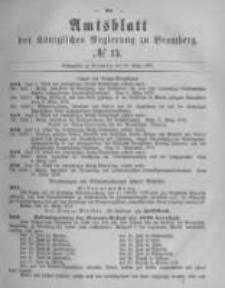 Amtsblatt der Königlichen Preussischen Regierung zu Bromberg. 1878.03.29 No.13
