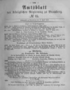 Amtsblatt der Königlichen Preussischen Regierung zu Bromberg. 1878.04.12 No.15