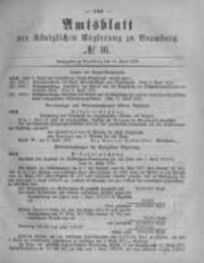 Amtsblatt der Königlichen Preussischen Regierung zu Bromberg. 1878.04.19 No.16
