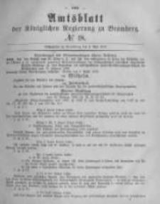 Amtsblatt der Königlichen Preussischen Regierung zu Bromberg. 1878.05.03 No.18