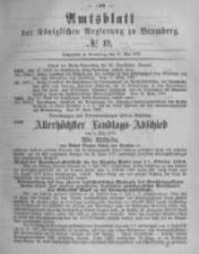 Amtsblatt der Königlichen Preussischen Regierung zu Bromberg. 1878.05.10 No.19
