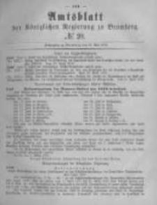 Amtsblatt der Königlichen Preussischen Regierung zu Bromberg. 1878.05.17 No.20