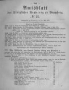 Amtsblatt der Königlichen Preussischen Regierung zu Bromberg. 1878.05.24 No.21
