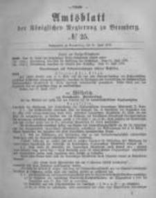 Amtsblatt der Königlichen Preussischen Regierung zu Bromberg. 1878.06.21 No.25