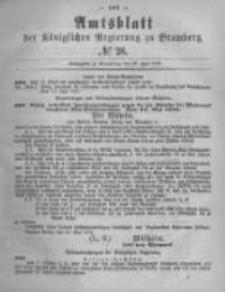 Amtsblatt der Königlichen Preussischen Regierung zu Bromberg. 1878.06.28 No.26