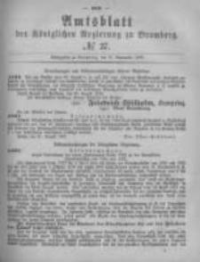 Amtsblatt der Königlichen Preussischen Regierung zu Bromberg. 1878.09.13 No.37