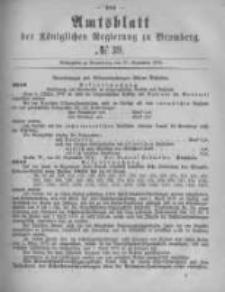 Amtsblatt der Königlichen Preussischen Regierung zu Bromberg. 1878.09.27 No.39
