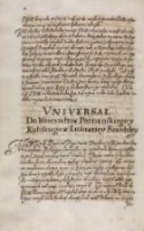 Vniuersał do woiewodztwa poznanskiego y kaliskiego z lustraciey srzedzkiey, Sroda 17.09.1613