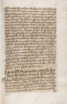List do [...] senatorow przes X. Andrzeia Szołdrskiego secretarza KJM [Zygmunta III] posłany [1613] [Zawiadomienie o zwołaniu sejmu]