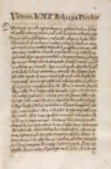 Votum [...] biskupa płockiego [Marcina Szyszkowskiego 1613]