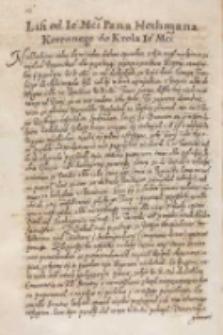 List od [...] hetmana koronnego [Stanisława Żółkiewskiego] do krola [...] [Zygmunta III], Żółkiew 09.04.1614
