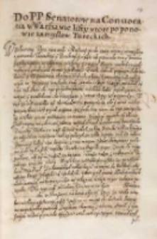 Do [...] senatorow na conuocatią w Warszawie listy wtore [krola Zygmunta III] po ponowie zamysłow tureckich, Warszawa 29.05.1614