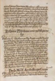 Do [...] Arcibiskupa Gnieznienskiego [Wojciecha Baranowskiego? król Zygmunt III 1614?]