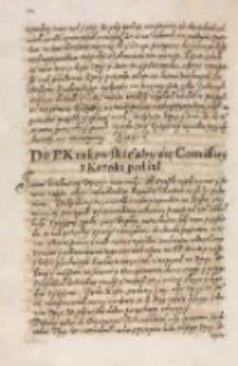 Do pana krakowskiego [Janusza Ostrogskiego] aby się commissiey z Kozaki podiął [1614]
