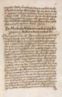 Do Michała Wisniowieckiego aby ku granicy moskiewskiey ruszył [król Zygmunt III 1614]