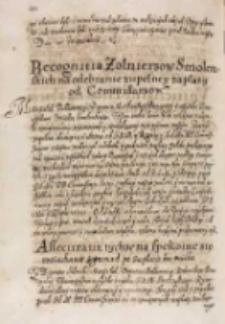 Assecuratia tychze na spokoine się roziachanie z gromad po zapłacie bez voisku, Bydgoszcz 29.04.1614