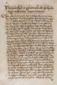 Vniuersał o gotowości do pospolitego ruszenia napominaiąc, Warszawa V 1614