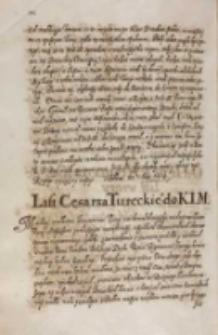 List cesarza tureckiego [Ahmeda I] do KJM [Zygmunta III], 14.04.1614