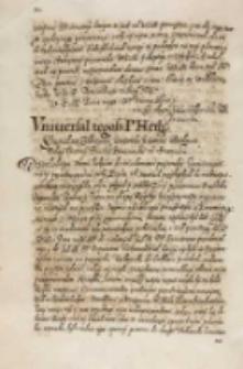 Vniuersał tegosz [...] hetmana [Stanisława Żółkiewskiego], Dan w Barze 13.06.1614