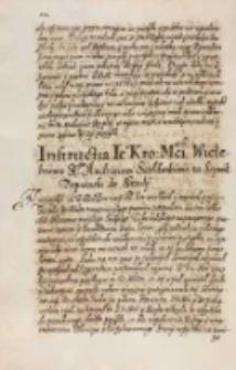 Instructia JKM [Zygmunta III [...] Andrzeiowi Szołdrskiemu na sejmik deputacki do Srzody [we wrześniu 15? 1614 r.]