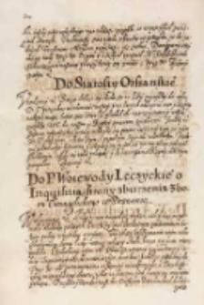 Do starosty orszańskiego [król Zygmunt III, Warszawa 1614]