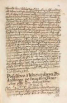 Poselstwo z woiewodztwa podolskiego po incursiey tatarskiey przez [...] Siekierzyńskiego do króla [Zygmunta III] [1615]