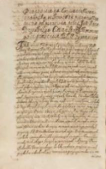 Propositia na conuocatią warszawską in Anno 1614 priuatim w senacie odprawiona przez [...] [Feliksa] Kryskiego canclerza koronnego in praesentia KJM [Zygmunta III] [7.08.1614]