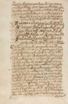 Respons słowny przes [...] Sczesnego Kryskiego podkanclerzego koronnego imieniem JKM [Zygmunta III] tymze [...] posłom od ricerstwa zpod stolice moskiewskiey dani in castris ad Smolenscum sitis 1609