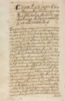 Copia listu teyze carowy ktory w mieskaniu swym w obozie pod stolicą Moskwą tego dnia ktorego do impositora iachała na stole zostawiła [16.02.1609]