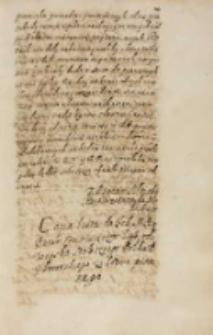Copia listu do [...] commissarzow litewskich od woyska stołecznego połku [...] [Aleksandra] Zborowskiego ze Lwowa pisanego [1613]