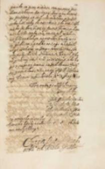 Copia listu [do] pana krakowskiego [Janusza Ostrogskiego] od krola JM [Zygmunta III], Warszawa 15.06.1614