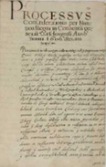 Processus confaederationis per nuntios Regni in conuentu generali Varschaviensi Anno Domini 1606 senatui propositus