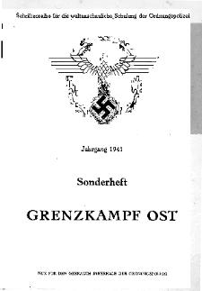 Der Kampf um die deutsche Ostgrenze (ein Längsschnitt von der frühgermanischen Zeit bis zur Jetztzeit)