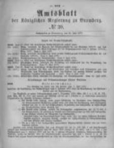 Amtsblatt der Königlichen Preussischen Regierung zu Bromberg. 1879.07.25 No.30