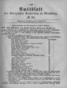 Amtsblatt der Königlichen Preussischen Regierung zu Bromberg. 1879.08.22 No.34