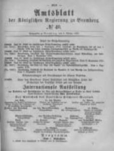 Amtsblatt der Königlichen Preussischen Regierung zu Bromberg. 1879.10.03 No.40