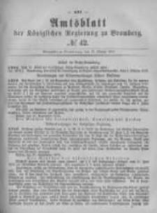 Amtsblatt der Königlichen Preussischen Regierung zu Bromberg. 1879.10.17 No.42