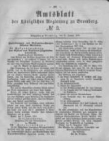 Amtsblatt der Königlichen Preussischen Regierung zu Bromberg. 1881.01.21 No.3