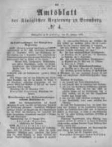 Amtsblatt der Königlichen Preussischen Regierung zu Bromberg. 1881.01.28 No.4