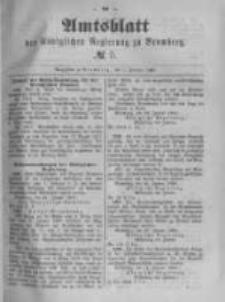 Amtsblatt der Königlichen Preussischen Regierung zu Bromberg. 1889.02.01 No.5