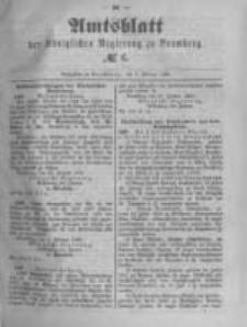 Amtsblatt der Königlichen Preussischen Regierung zu Bromberg. 1889.02.08 No.6