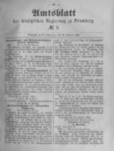 Amtsblatt der Königlichen Preussischen Regierung zu Bromberg. 1889.02.22 No.8