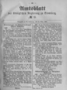 Amtsblatt der Königlichen Preussischen Regierung zu Bromberg. 1889.03.15 No.11