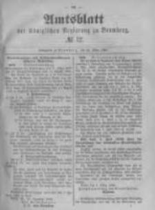 Amtsblatt der Königlichen Preussischen Regierung zu Bromberg. 1889.03.22 No.12