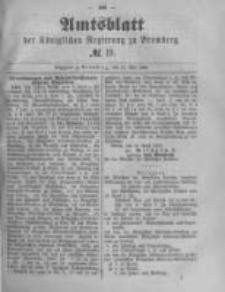 Amtsblatt der Königlichen Preussischen Regierung zu Bromberg. 1889.05.10 No.19