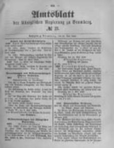 Amtsblatt der Königlichen Preussischen Regierung zu Bromberg. 1889.05.24 No.21
