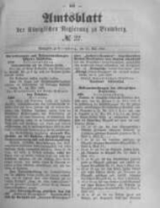 Amtsblatt der Königlichen Preussischen Regierung zu Bromberg. 1889.05.31 No.22