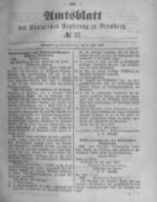 Amtsblatt der Königlichen Preussischen Regierung zu Bromberg. 1889.07.05 No.27