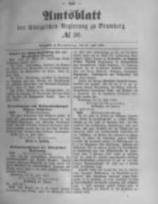 Amtsblatt der Königlichen Preussischen Regierung zu Bromberg. 1889.07.26 No.30