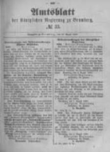 Amtsblatt der Königlichen Preussischen Regierung zu Bromberg. 1889.08.16 No.33